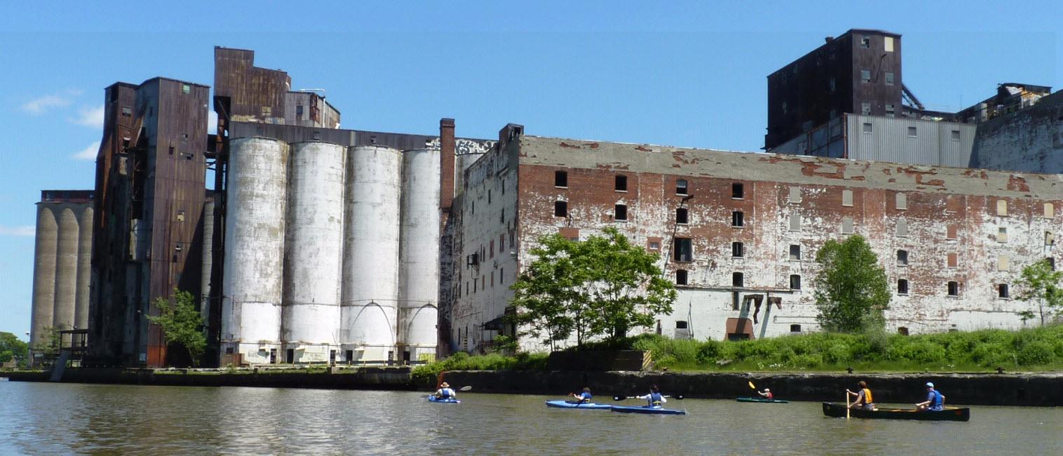 Paddlers & Grain Elevators on Buffalo River